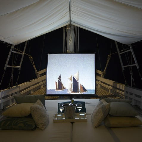 Open Air Cinema - Alexa Private Cruises - Luxury Charter Yacht - Indonesia