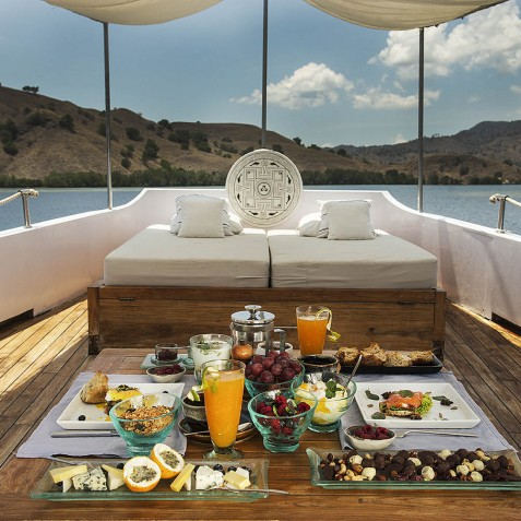 Lunch On Board - Alexa Private Cruises - Luxury Charter Yacht - Indonesia