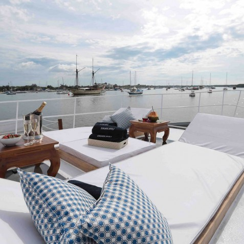 Sun Loungers - Haruku - Luxury Yacht Charter, Bali, Indonesia