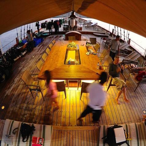 Deck - Mutiara Laut - Luxury Yacht Charter Indonesia