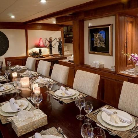 Dining Room - Mutiara Laut - Luxury Yacht Charter Indonesia