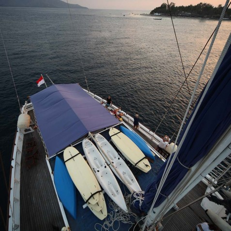 Aerial View - Ombak Putih Cruises - Sailing Adventures - Indonesia
