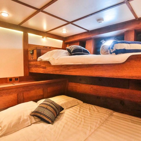 Triple Cabins - Ombak Putih Cruises - Sailing Adventures - Indonesia