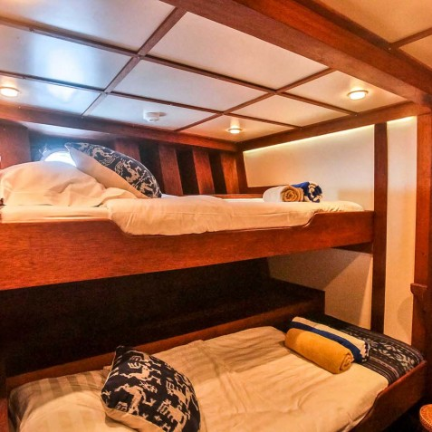 Twin Cabins - Ombak Putih Cruises - Sailing Adventures - Indonesia