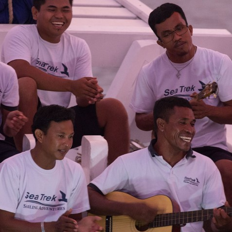 Evening Entertainment - Ombak Putih Cruises - Sailing Adventures - Indonesia