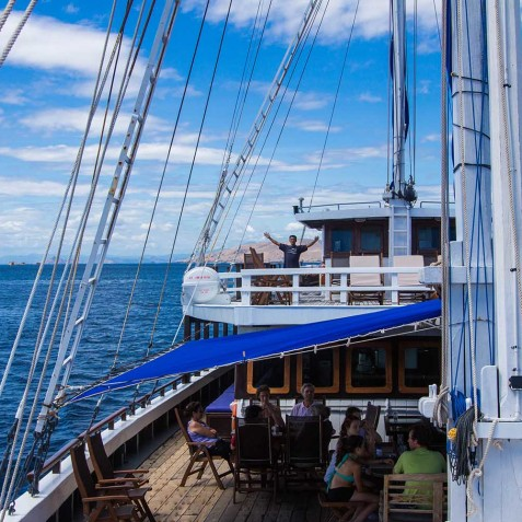 On Board - Ombak Putih Cruises - Sailing Adventures - Indonesia