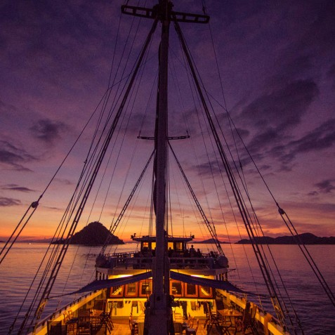 Stunning Sunsets - Ombak Putih Cruises - Sailing Adventures - Indonesia