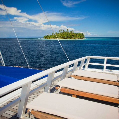 Sun Deck - Ombak Putih Cruises - Sailing Adventures - Indonesia