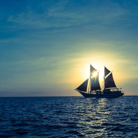 Sunset - Ombak Putih Cruises - Sailing Adventures - Indonesia