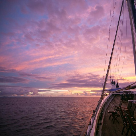 Sunset Views - Ombak Putih Cruises - Sailing Adventures - Indonesia