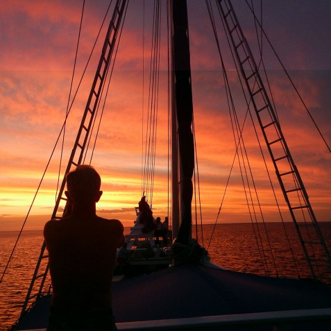 Sunsets - Ombak Putih Cruises - Sailing Adventures - Indonesia