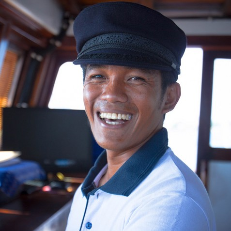 The Captain - Ombak Putih Cruises - Sailing Adventures - Indonesia