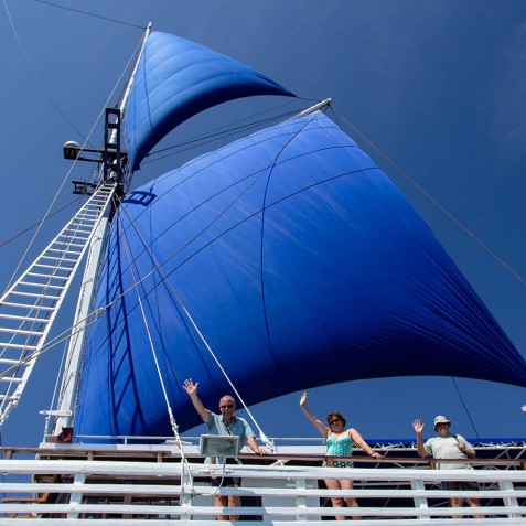 The Ship - Ombak Putih Cruises - Sailing Adventures - Indonesia