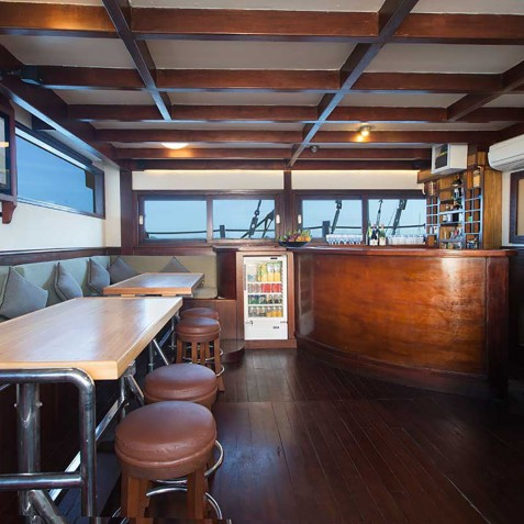 Bar - The Katharina - Sailing Adventure Cruises Indonesia