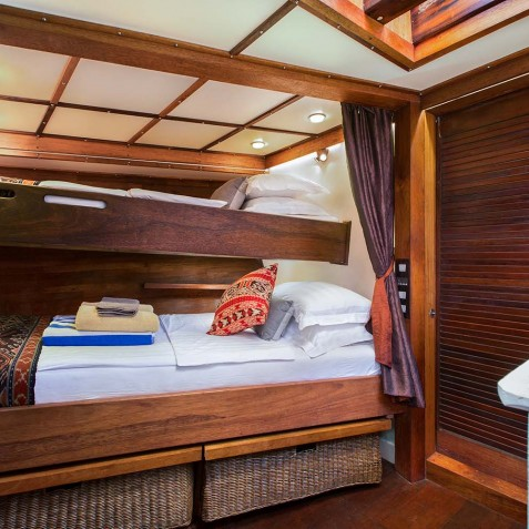 Twin Cabin - The Katharina - Sailing Adventure Cruises Indonesia