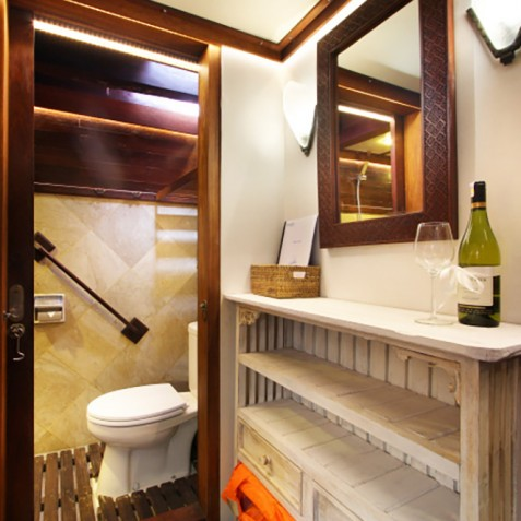 Cabin Bathroom - The Katharina - Sailing Adventure Cruises Indonesia