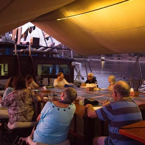 Evening On Board - The Katharina - Sailing Adventure Cruises Indonesia