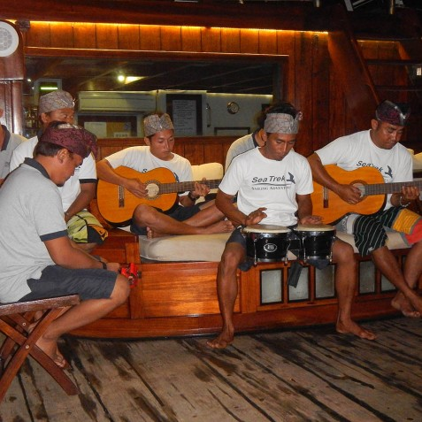Evening Entertainment - The Katharina - Sailing Adventure Cruises Indonesia