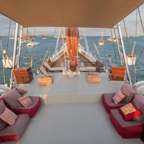 Upper Deck - The Katharina - Sailing Adventure Cruises Indonesia