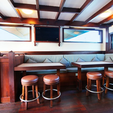 Saloon - The Katharina - Sailing Adventure Cruises Indonesia