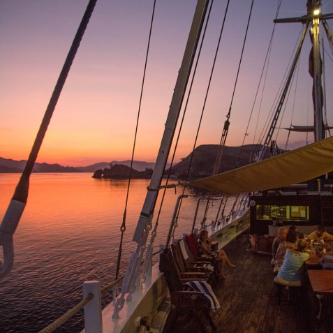 Sunsets On Board - The Katharina - Sailing Adventure Cruises Indonesia
