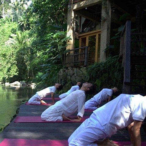 Morning Yoga - Svarga Loka Resort - Ubud, Bali, Indonesia