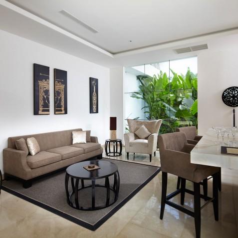 Living Room - Cocoon Villa - Cocoon Medical Spa Retreat, Seminyak, Bali