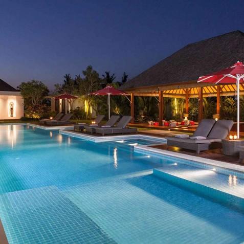 Pool at Night - Cocoon Medical Spa Retreat, Seminyak, Bali