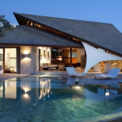 The Layar - 3 Bedroom Villa - Villa at Dusk - Seminyak, Bali