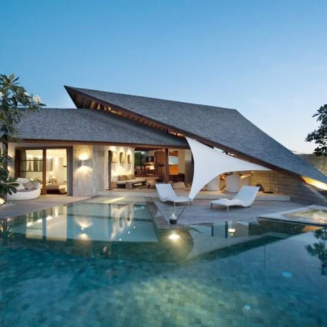 The Layar - 3 Bedroom Villa - At Dusk - Seminyak, Bali