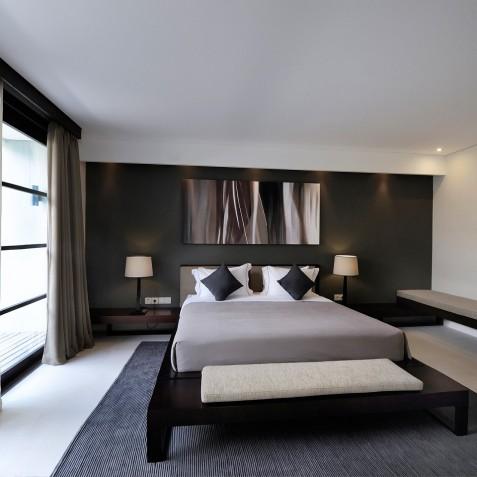 The Layar - 2 Bedroom Villa - Black Bedroom - Seminyak, Bali