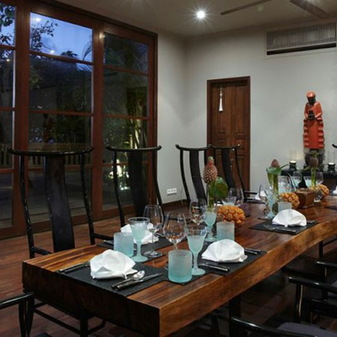 Villa Ambra Bali - Indoor Dining Room - Pantai Lima Estate, Canggu, Bali, Indonesia