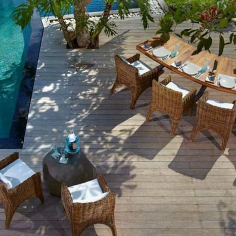 Villa Ambra Bali - Alfresco Dining by Pool - Pantai Lima Estate, Canggu, Bali, Indonesia