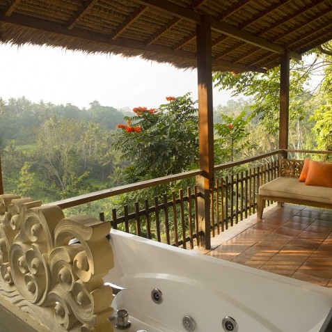 Junior Suite Balcony & Jacuzzi Bathtub - Svarga Loka Resort, Ubud, Bali, Indonesia