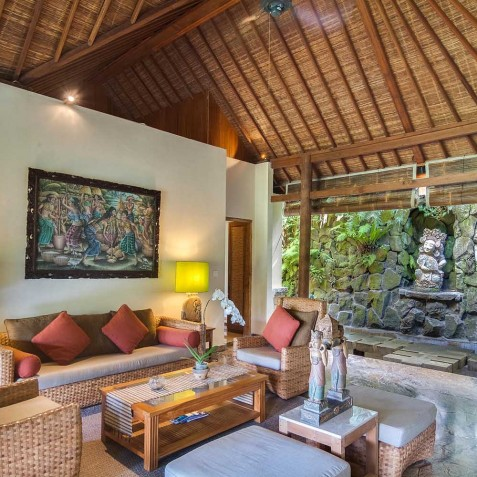 Master Suite Lounge Area - Svarga Loka Resort, Ubud, Bali, Indonesia