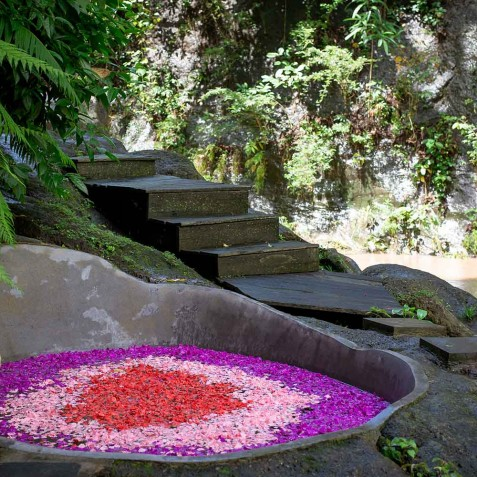 Rock Flower Bath - Svarga Loka Resort - Ubud, Bali, Indonesia