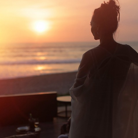 Sunset at Beach Bar - Alila Seminyak, Bali, Indonesia