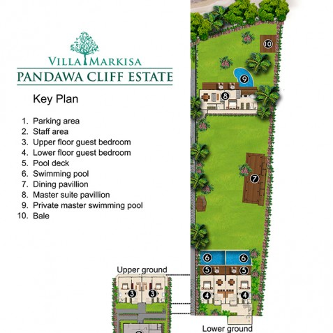 Pandawa Cliff Estate - Villa Markisa Floorplan