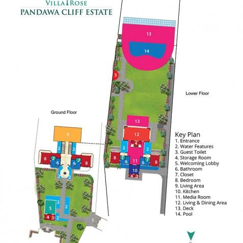 Pandawa Cliff Estate - Villa Rose Floorplan