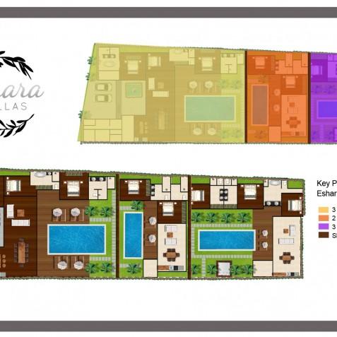 Eshara Villas Bali - Floor Plans - Seminyak, Bali