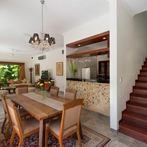 Villa Kalimaya IV - Dining Area and Kitchen - Seminyak, Bali