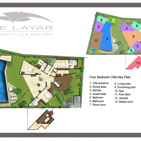 The Layar - 4 Bedroom Villa - Floor Plan - Seminyak, Bali