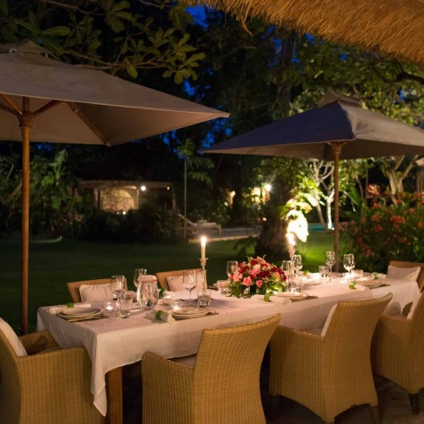 The Orchard House - Alfresco Dining at Night - Seminyak, Bali