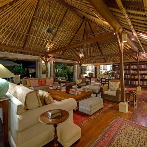 The Orchard House - Living Room at Night - Seminyak, Bali
