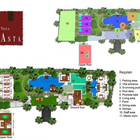 Villa Asta Bali - Floor Plan - Seminyak, Bali