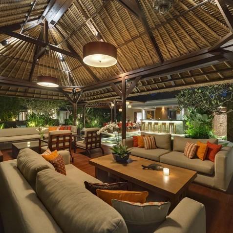Villa Asta Bali - Living Area at Night - Seminyak, Bali