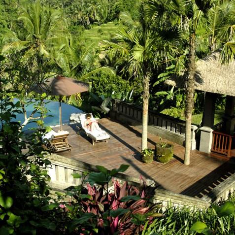 Villa Bayad Bali - Main Pool Deck - Ubud, Bali