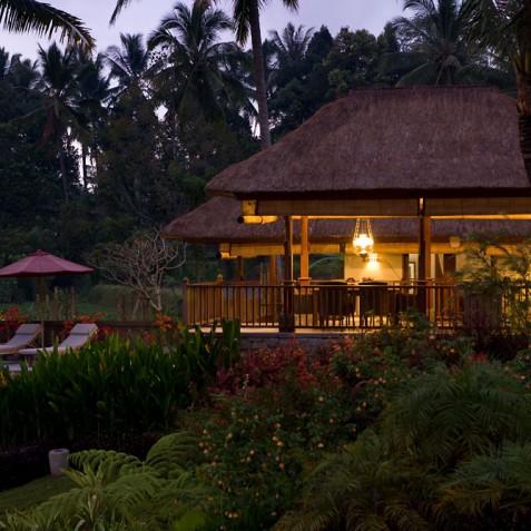 Villa Bayad Bali - Ubud House in Evening - Ubud, Bali