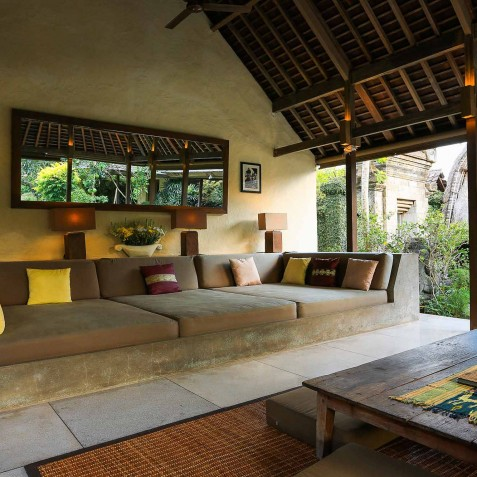 Villa Belong Dua - Seseh-Tanah Lot, Bali - Open Air Living Room