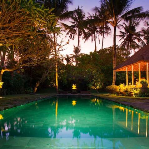 Villa Belong Dua - Seseh-Tanah Lot, Bali - Pool at Night